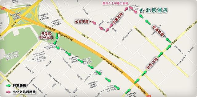 北京浦丹光电股份有限公司地理位置示意图